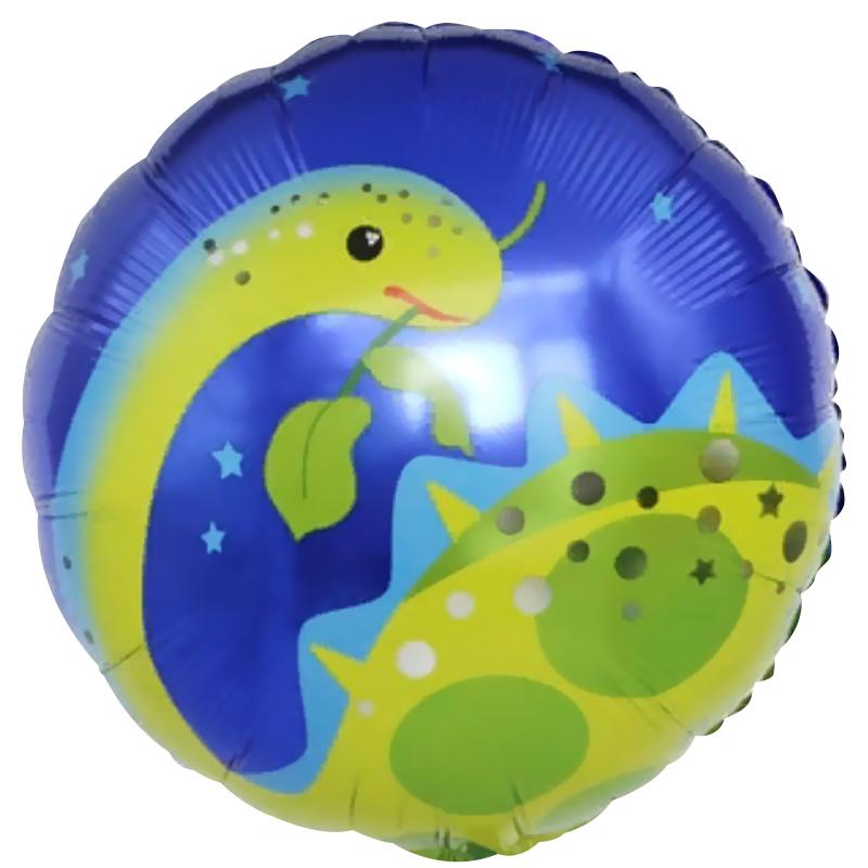 Динозавр Бронтозавр шар фольгированный с гелием