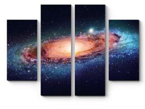 Модульная картина Туманность и планеты