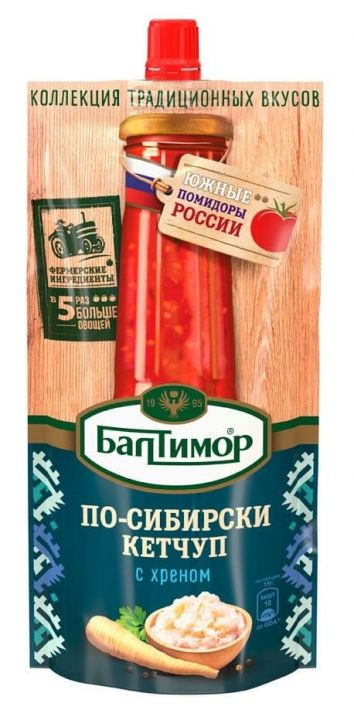 Кетчуп Балтимор По-Сибирски д/п 260г