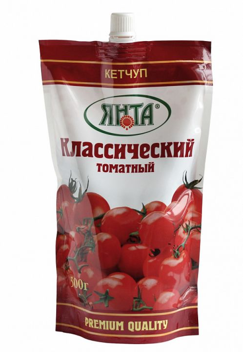 Соус кетчуп Янта Классический дой/пак с доз. 800г