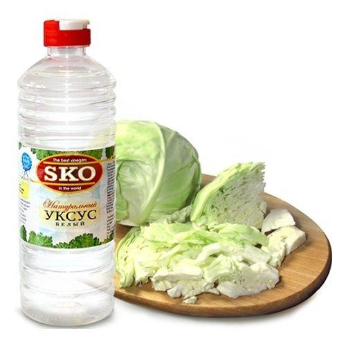 Уксус SKO белый натуральный 500мл пл/б