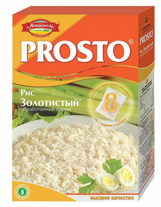 Крупа PROSTO Рис золотистый 500г (8х62.5г)