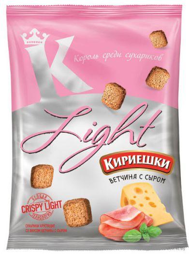 Сухарики Кириешки 80г Light ветчина с сыром