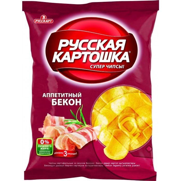 Чипсы Русская картошка бекон 80г