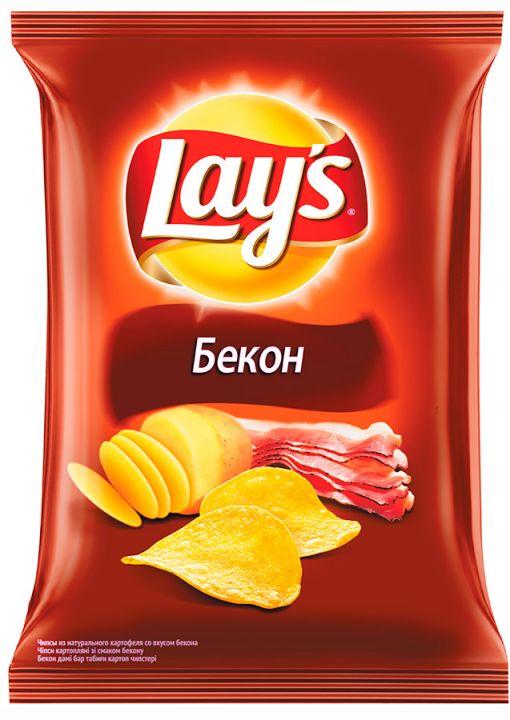 Чипсы Лейз 80г Бекон