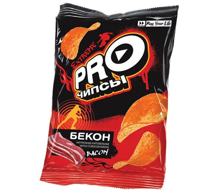 Чипсы PRO-чипсы со вкусом Бекона 150г