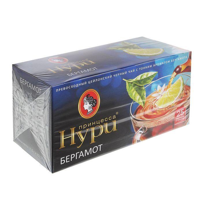 Чай Принцесса Нури бергамот 25пак*1,5г