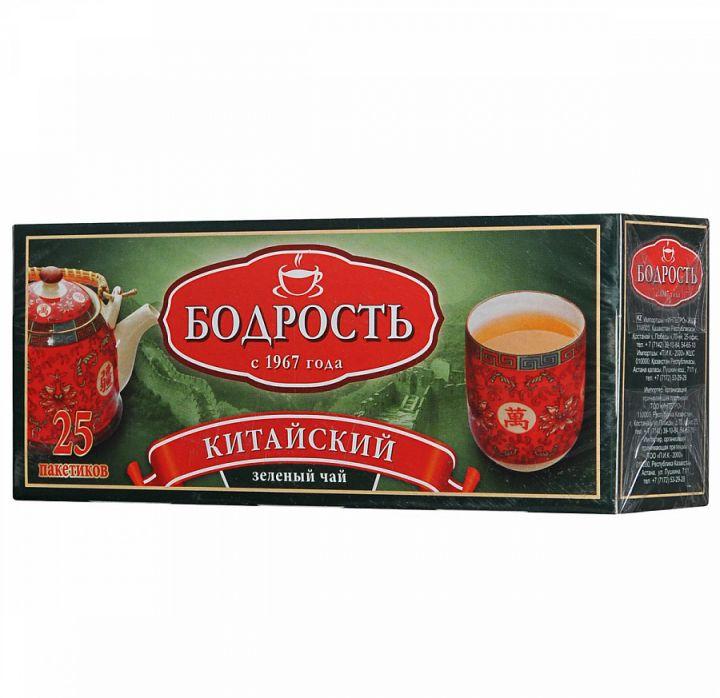 Чай Бодрость зеленый китайский с/я 25пак*1,8г