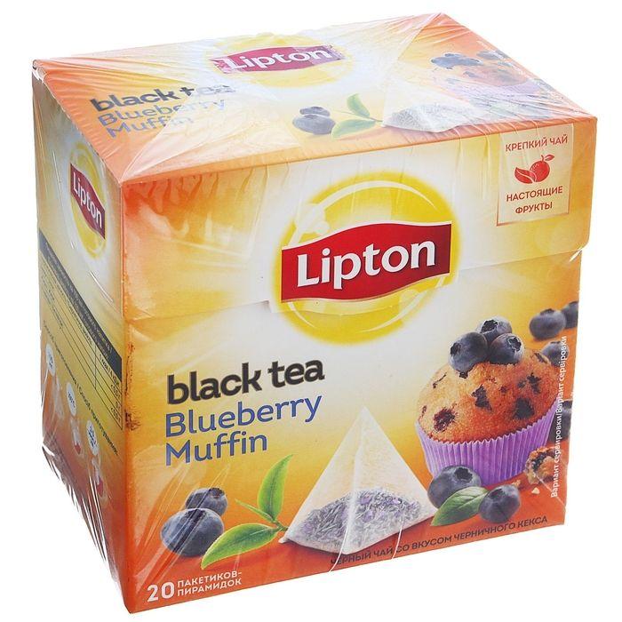 Чай Липтон черный Черничный кекс (пирамидки) 20пак.*1,6г