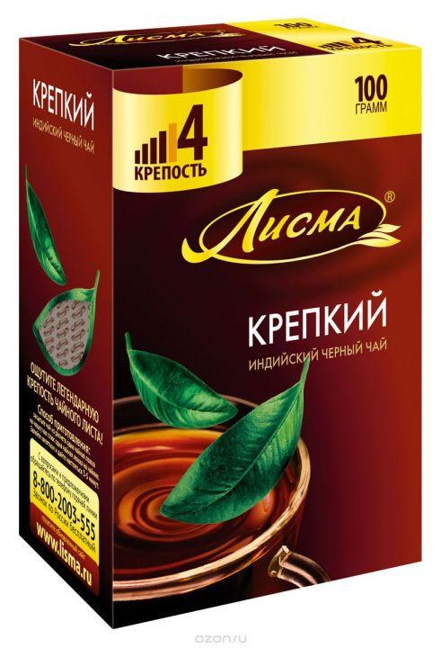 Чай Лисма Индия крепкий мелкий лист 100г