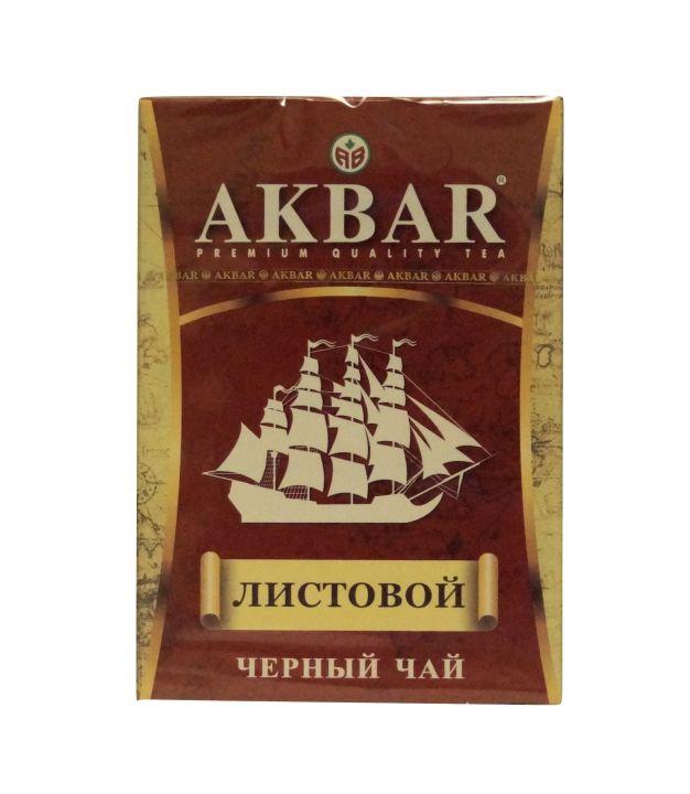 Чай Акбар Черный байховый с кораблем (лист) 90г