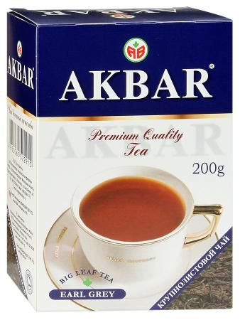 Чай Акбар Граф Грей с бергамотом 200г