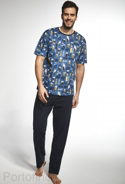 194-78 Пижама мужская длинный рукав Cornette