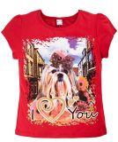 Красный футболка для девочек с принтом от Bonito kids