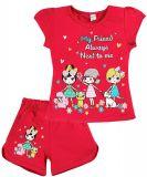 Летний комплект для девочки 4-8 лет BONITO kids красный