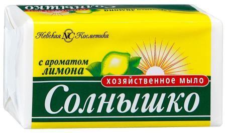 Мыло Солнышко 140г хоз. лимон Невская косметика а16385