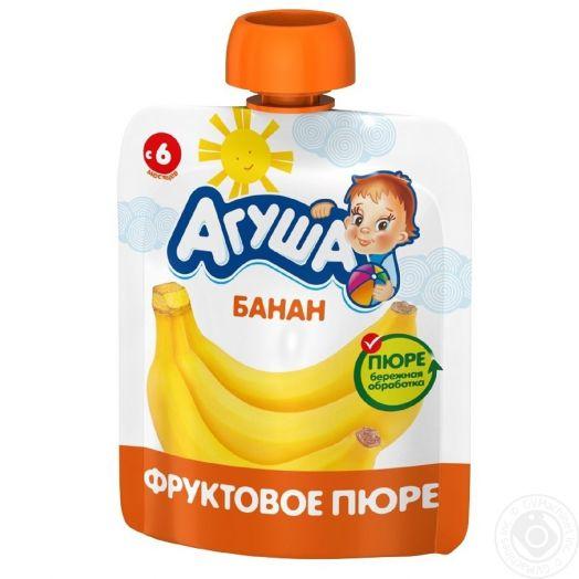 Пюре Агуша 90г фрукт/банан дой-пак