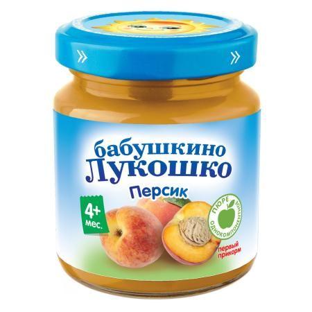 Пюре Бабушкино Лукошко персик 100г