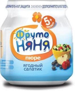 Пюре Фрутоняня Яблоко-черника-вишня 100г