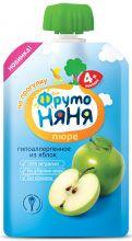 Пюре Фрутоняня яблочное натуральное 90г пауч