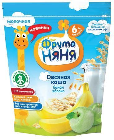 Каша Фрутоняня овсяная яблоко/банан/молоч с 6 мес. 200мл. Россия
