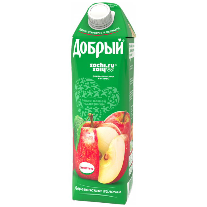 Нектар Добрый 1л Деревенское яблоко
