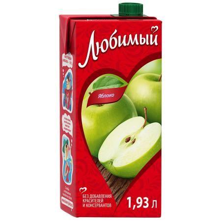 Нектар Любимый 1,93л Яблоко