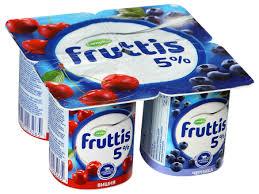 Йогурт Фруттис 5% сливоч/вишня/черника 115гр. ООО Кампина