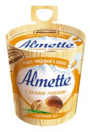 Сыр Альметте плавл.творожный с белыми грибами 23% 150гр.