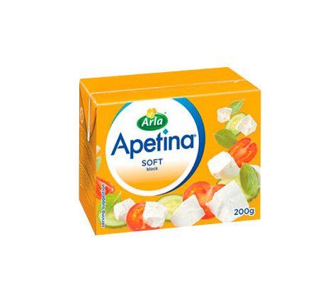 Сырный продукт Фета Apetina soft 52.5% 250г Арла