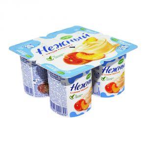 Йогурт «Нежный» с соком персика Campina 1,2% 0,1 л. 1 шт