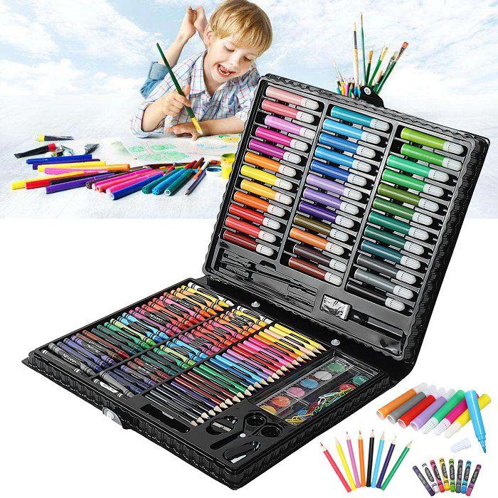 Набор для рисования в чемодане Art Set 150 предметов (цвет черный)