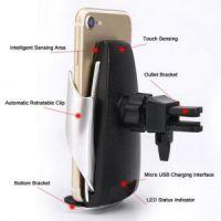 Беспроводная автомобильная зарядка-держатель с сенсорным датчиком Penguin Smart SenSor S5 (6)
