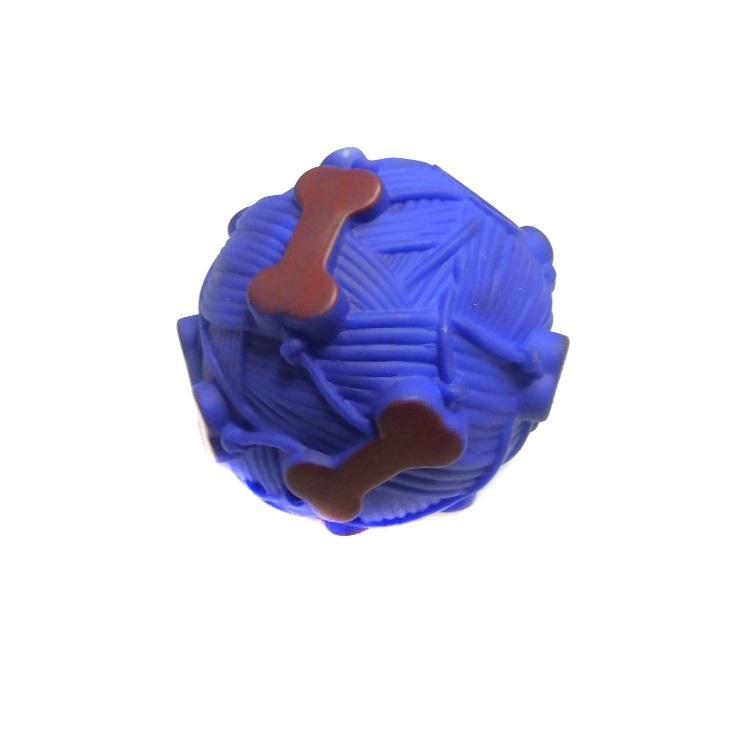 Звуковая Игрушка Для Собак Мячик С Отверстием Для Лакомства, 9 См, Цвет Синий