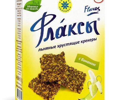 Флаксы с бананом Компас здоровья - 120 гр