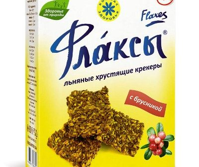 Флаксы с брусникой Компас здоровья - 120 гр