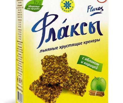 Флаксы с яблоком и корицей Компас здоровья - 120 гр