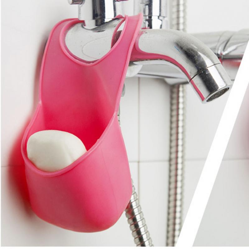 Подвесной карман для раковины Silicone Sink Top Hanger, цвет розовый