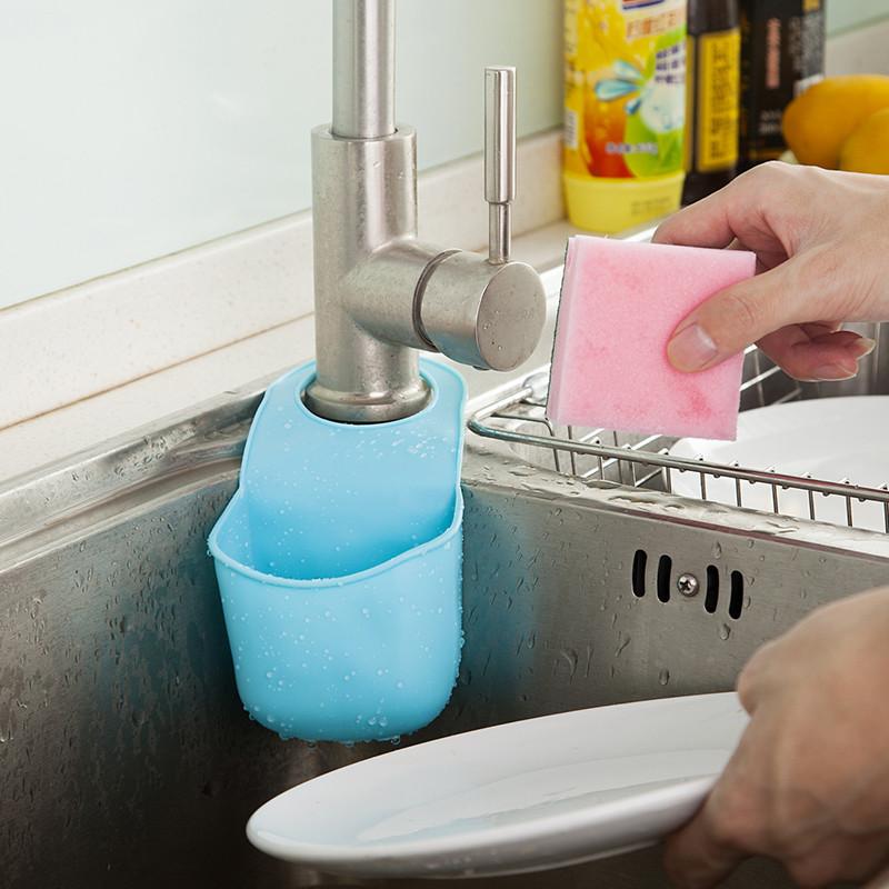 Подвесной Карман Для Раковины Silicone Sink Top Hanger, Цвет Голубой