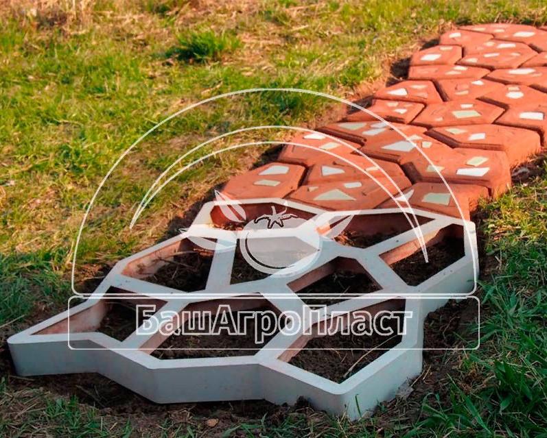 Форма для изготовления садовой дорожки Мозаика, 60х60 см