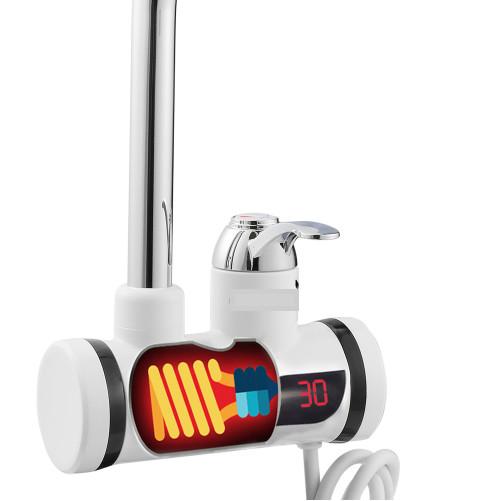 Проточный электрический водонагреватель INSTANT ELECTRIC HEATING WATER FAUCET, с экраном