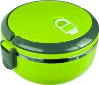 Односекционный круглый ланчбокс 1 литр зелёный