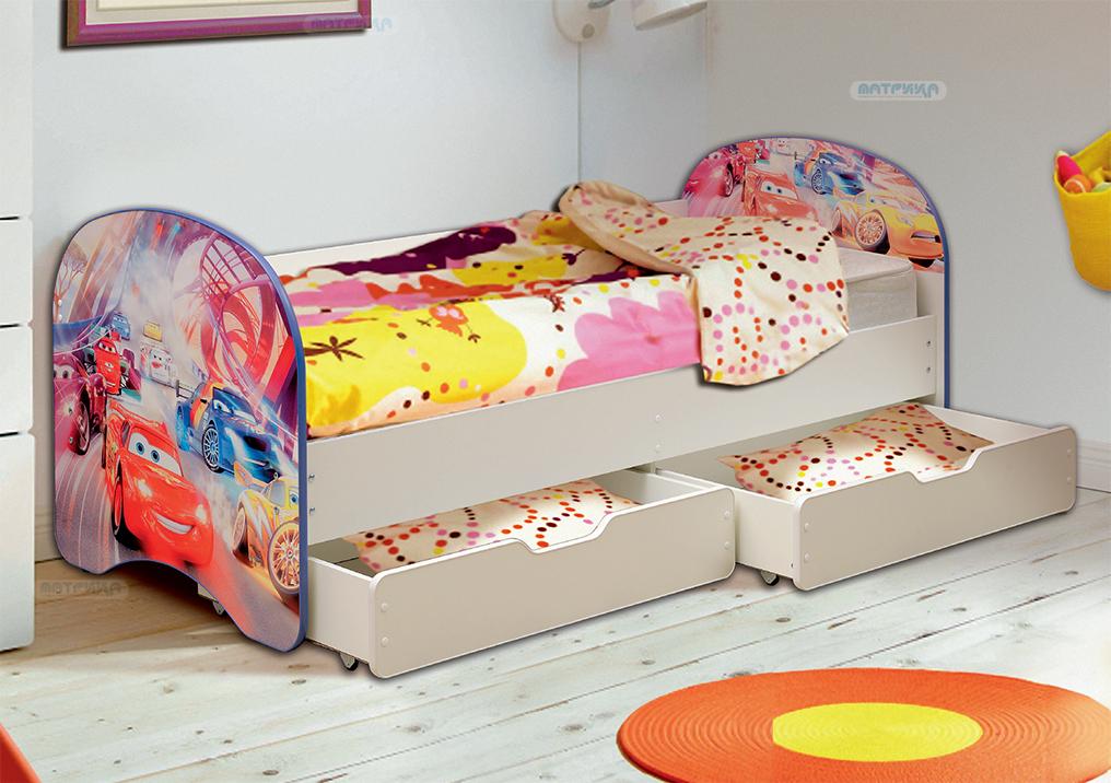 Кровать детская с 2-мя ящиками (800*1900)
