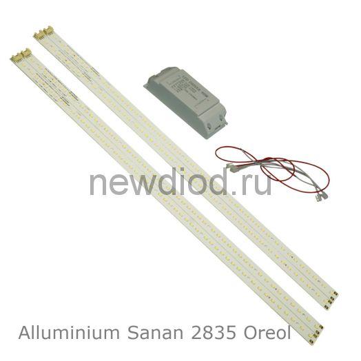 Комплект Alluminium Sanan 2835 497*15/0.2W*50chips 40W-4600Lm 5000K PF:0.98 AC:170-245V DC:105V 280mA