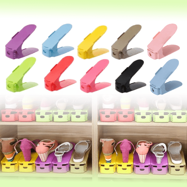Набор двухъярусных подставок для обуви Double Shoe Racks, 10 шт