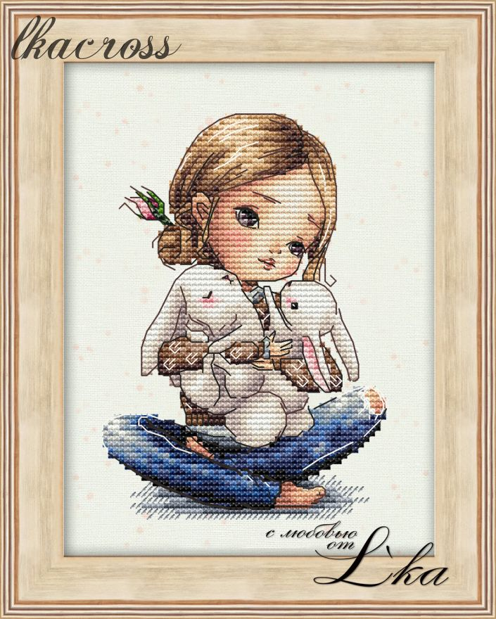 """Eared hugs"". Digital cross stitch pattern."