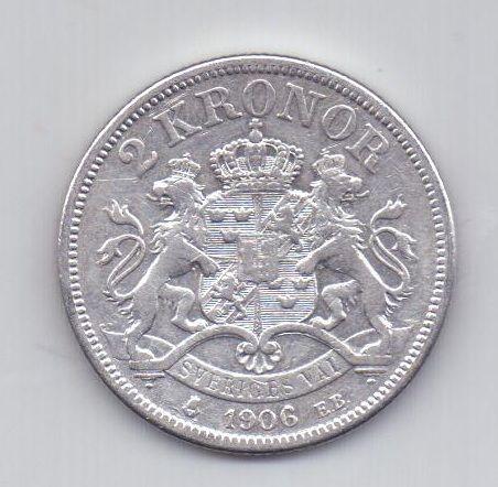 2 кроны 1906 года XF Швеция
