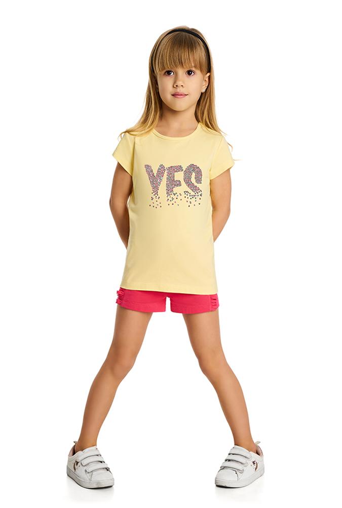 Футболка для девочки YES