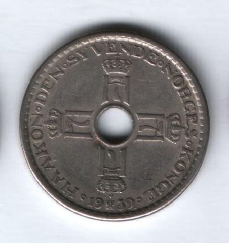 1 крона 1939 года Норвегия