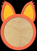 Детская метрика простая круг с ушами